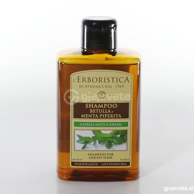L'Erboristica Shampoo Betulla Menta Piperita. 300 ml.
