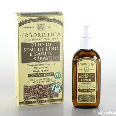 L'Erboristica Olio di Semi di Lino e Karite Spray. 100 ml.