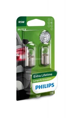 Set me 2 Llampa stopash Philips LongLife EcoVision R5W 12V 5W