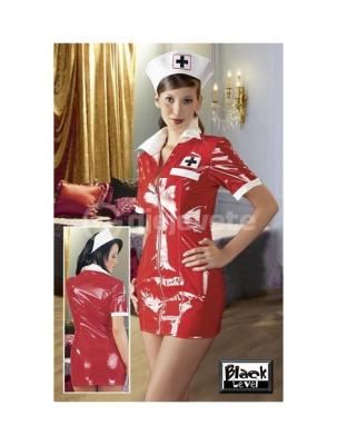 Kostum Infermiere Vinyl Nurse Set Red