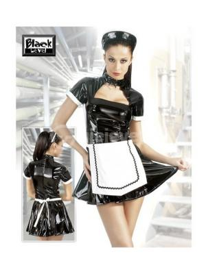Kostum Sherbyese Vinyl Maid Set Black